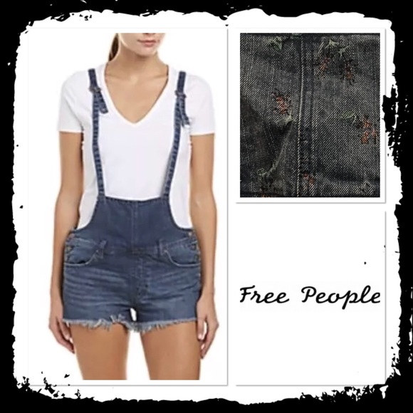 e758ca027f7 NWT Free People Floral Print Strappy Short Alls